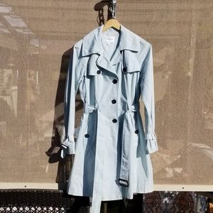 Club Monaco Trench Coat Light Blue
